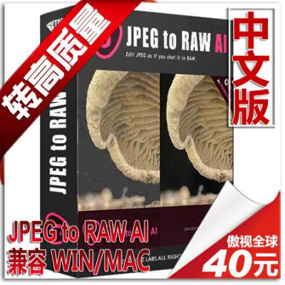 AI智能图片转高质量RAW滤镜PS插件 Topaz JPEG to RAW AI 中文版 WIN/MAC